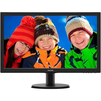 "Philips 243V5LHAB 23.6"" LED monitor fekete"