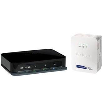 NETGEAR Homeplug Powerline Hálózati Adapter Kit 500Mbps, XAV5001 + XAV5004 Switch 4x100Mbps LAN