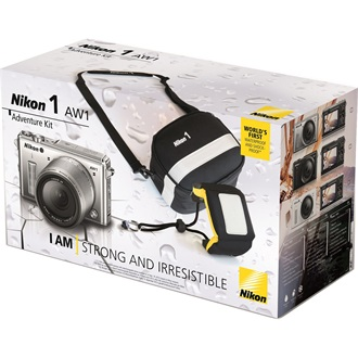 NIKON 1 AW1 Adventure KIT Fekete