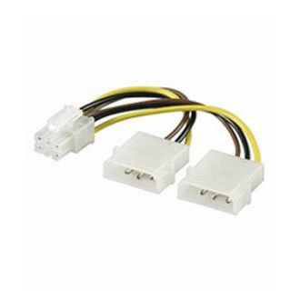 OEM 2db Molex Power 4pin -> Power 6pin M/F adapter (PCIe)