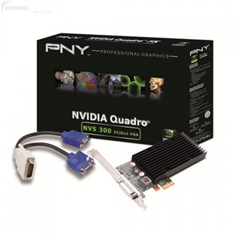 PNY Quadro 300 512MB GDDR3 64bit low profile PCI-E x1