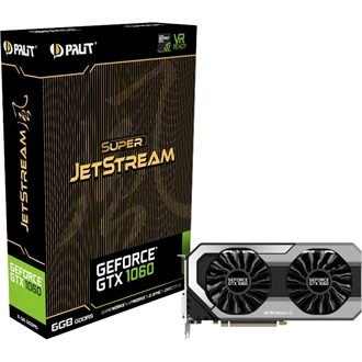 Palit GeForce GTX 1060 Super JetStream 6GB GDDR5 192bit grafikus kártya