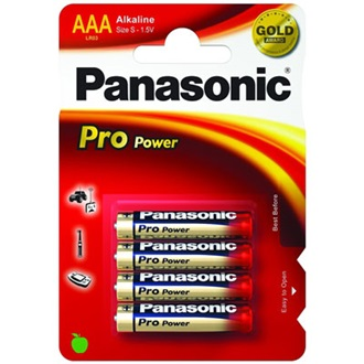 PANASONIC Pro Power 1.5V AAA alkáli elem 4db