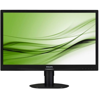 "Philips 241S4LCB 24""; FHD, DVI; 5ms, HAS; fekete LED Monitor"