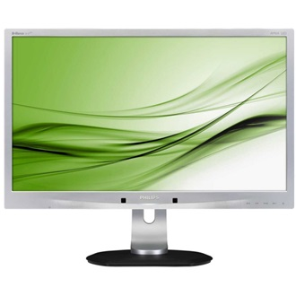 "Philips AMVA LED Monitor 24"", 241P4QPYES/00 1920x1080, 16:9, 5000:1, 250 cd/m˛, 4ms, VGA/DVI-D/DisplayPort/4xUSB, ezüst"
