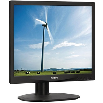 "Philips S-line 17S4LSB/00 monitor, 17"" LED, 5ms, DVI, fekete"