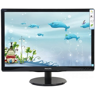 "Philips 193V5LSB2 18.5"" LED monitor fekete"