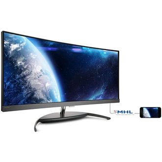 "Philips BDM3490UC/00 34"" ívelt LED monitor fekete"