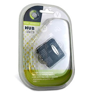 Point of View 4 portos USB 2.0 HUB, fekete