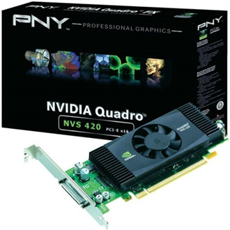 PNY Quadro NVS 420 512MB GDDR3 128bit low profile PCI-E x16