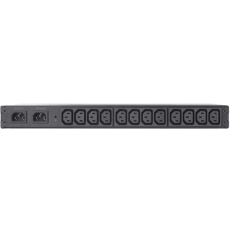 RACK ATS, 10A/230V, 12A/208V, C14 IN, (12) C13 OUT