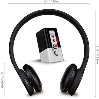Rapoo H8060 MID stereo headset fekete