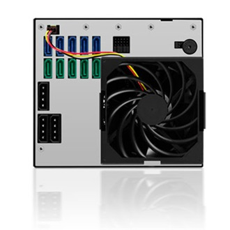 "Raidsonic ICY BOX IB-555SSK HDD 3.5"" backplane fekete"