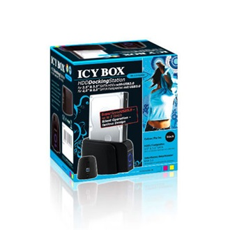 RaidSonic ICY BOX DockingStation IB-110StU3-B, USB 3.0,  fekete