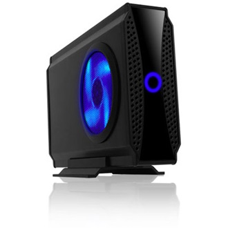 "RaidSonic ICY BOX IB-372StU3-B; Ext. Case for 3.5"" SATA HDD, HostUSB 3.0, 8cm blue lighting Fan"