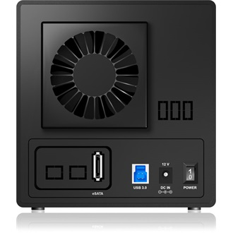 "Raidsonic ICY BOX IB-3664SU3  3.5"" SATA3 USB3.0 eSATA külső ház 4-Bay JBOD (Single)"