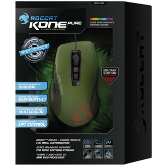 Roccat KONE PURE Military USB optikai gamer egér zöld