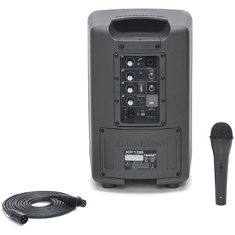 SAMSON Expedition XP106 Rechargeable Portable PA with Bluetooth and Microphone