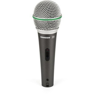 SAMSON Q6 XLR Dynamic Microphone | Super Cardioid | On/Off Switch | case & cable