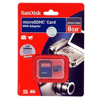Sandisk 8GB Micro Secure Digital HC Multi-Kit Class 4 microSDHC memóriakártya