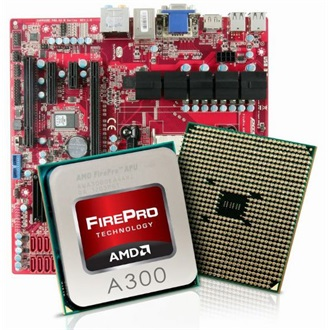 Sapphire technology AMD FIREPRO A300 + PGS A3 M MB INCL COOLER SATA CABLE & I/O