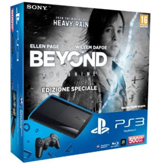 Sony PlayStation 3 500GB fekete + Beyond: Two Souls + The Last of Us