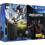 Sony PlayStation 4 Slim 1000GB játékkonzol + Horizon: Zero Dawn + Uncharted: The Lost Legacy