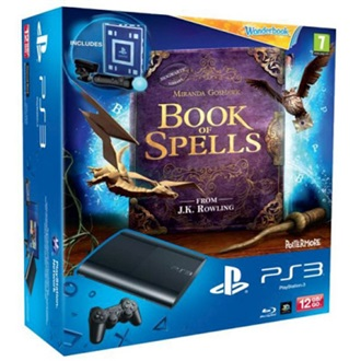 SONY PlayStation 3 12GB fekete + Move + Book of Spells