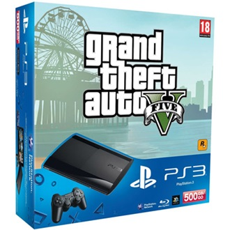 Sony PlayStation 3 500GB fekete + Grand Theft Auto 5 csomag