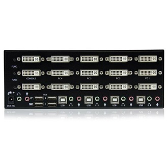 StarTech triple DVI monitor 4 portos USB KVM switch