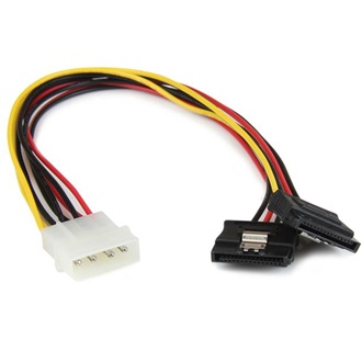 StarTech Molex Power 4pin -> 2db SATA Power 15pin M/F tápkábel 0.3m