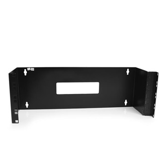 "StarTech 4U 19"" Wall Mount Patch Panels rack keret fekete"