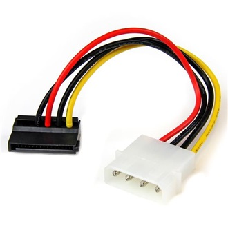 StarTech Molex Power 4pin -> SATA Power 15pin M/F tápkábel 0.15m