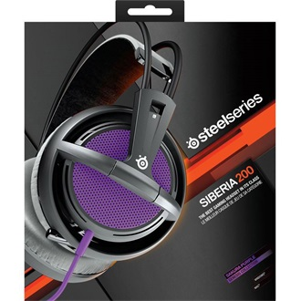 Steelseries Siberia 200 2.0 gamer headset lila