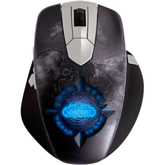 Steelseries Word of Warcraft MMO USB + Wireless egér fekete-ezüst
