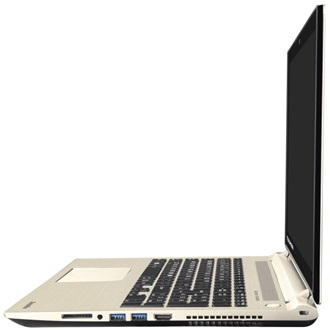 "TOSHIBA Satellite P50-C-10E, 15.6"" HD, Core i7-5500U, 8GB, 1TB,  GF930M, DVD, Win 8.1, Arany"