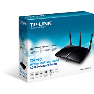 TP-LINK ArcherD2 AC750 Wireless Dual Band Gigabit ADSL2+ Modem Router