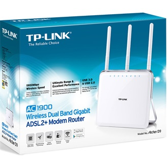 TP-LINK TP-LINK ArcherD9 AC1900 Wireless Dual Band Gigabit ADSL2+ Modem Router