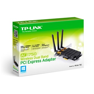 TP-Link AC1750 Dual Band Wireless PCI Express Adapter, Broadcom , 3T3R, 1300Mbps at 5Ghz + 450Mbps at 2.4Ghz, 802.11ac/a