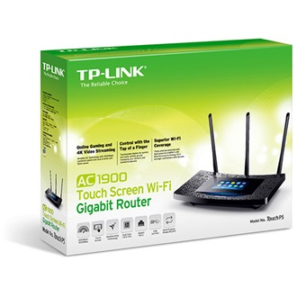 TP-Link AC1900 Touch Screen Wi-Fi Gigabit Router, Broadcom 1GHz dual-core CPU, 1300Mbps at 5Ghz + 600Mbps at 2.4Ghz, 802