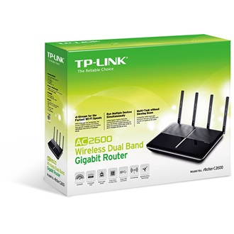 TP-Link AC2600 Dual Band Wireless Gigabit Router, Qualcomm 1.4GHz dual-core CPU, 1732Mbps at 5GHz + 800Mbps at 2.4GHz, 8