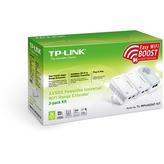 TP-Link Homeplug AV500 220V 500Mbps 3-pack kit powerline range extender