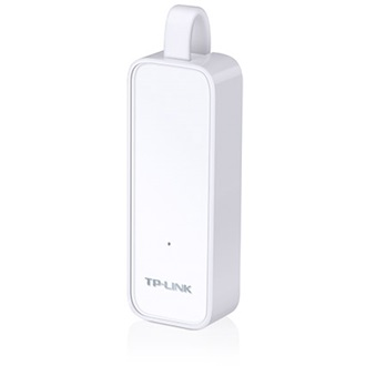 TP-Link USB 3.0 to Gigabit Ethernet Adapter, 1 port USB 3.0 connector and 1 port Ethernet port