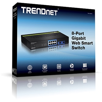 TRENDnet TEG-082WS Web Smart rack switch
