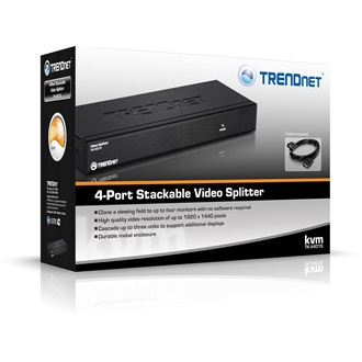 TRENDnet TK-V401S 4 portos VGA splitter Stackable