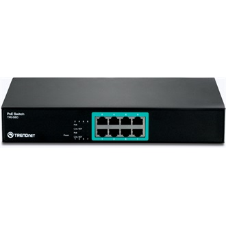 TRENDnet TPE-S80 8-Port 10/100Mbps PoE rack switch