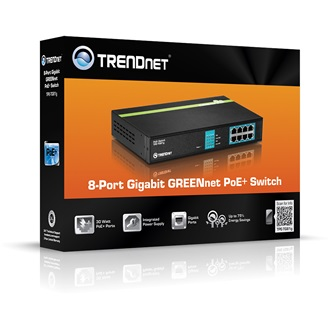 TRENDnet TPE-TG81G 8-Port Gigabit GREENnet PoE rack switch