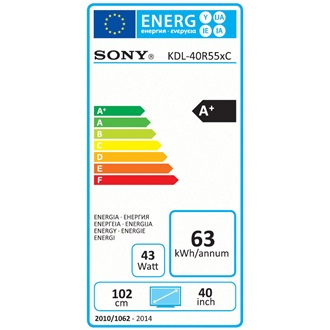 "TV LCD 40"" FHD LED Sony KDL40R550CBAEP SMART csak YouTube"