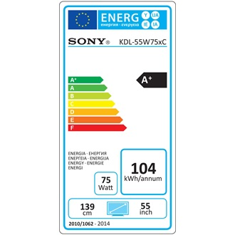 "Sony KDL55W756CSAEP ANDROID SMART TV LCD 55"" FHD LED 16GB ezüst"