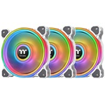 Thermaltake Riing Quad 12 RGB Radiator Fan White TT Premium Edition 3Pack/White Fan/12025/PWM 500~1500rpm/Quad Riing/LED